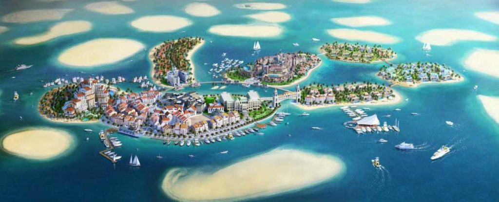 the world dubai : ile touristique