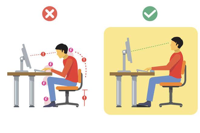 Position au bureau : écran est-il au niveau de vos yeux
