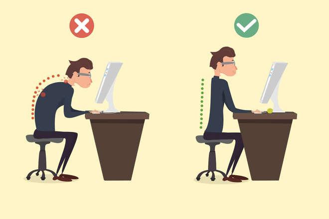Position au bureau : clavier