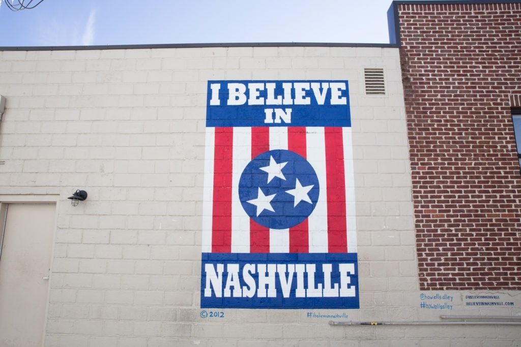 I Believe in Nashville - Street art