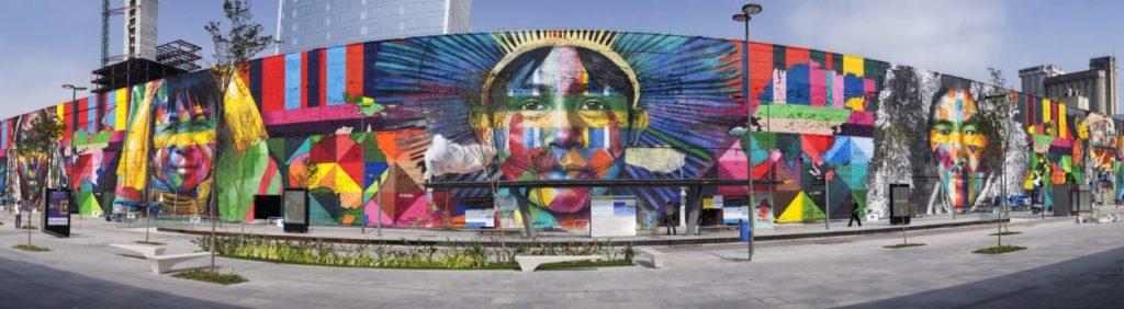 Fresque géante de Eduardo Kobra à Rio de Janeiro