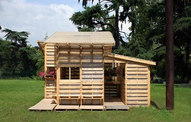 palette Version cabane de jardin