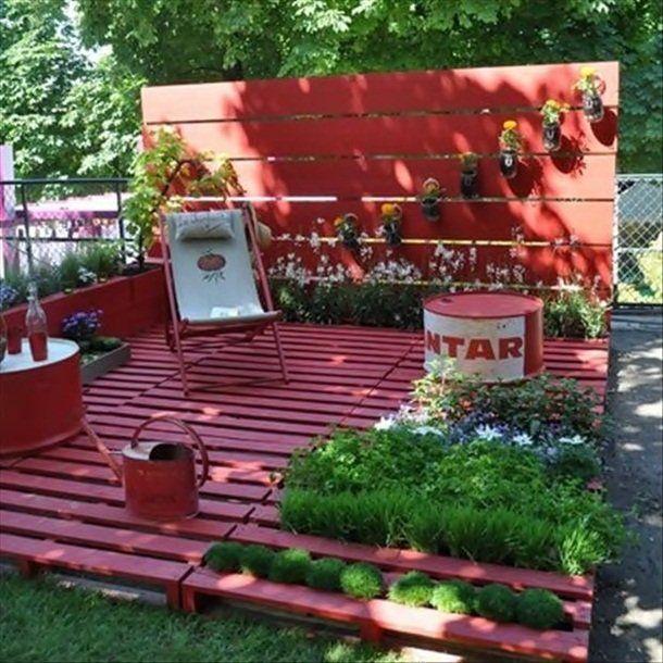 palette Version salon de jardin