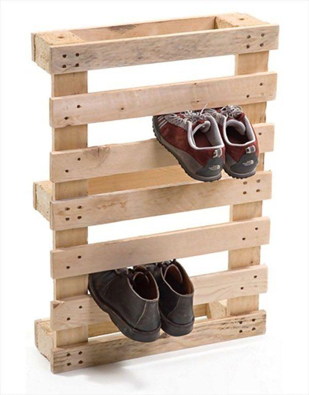 palette Version meuble basique à chaussure… il fallait y penser !