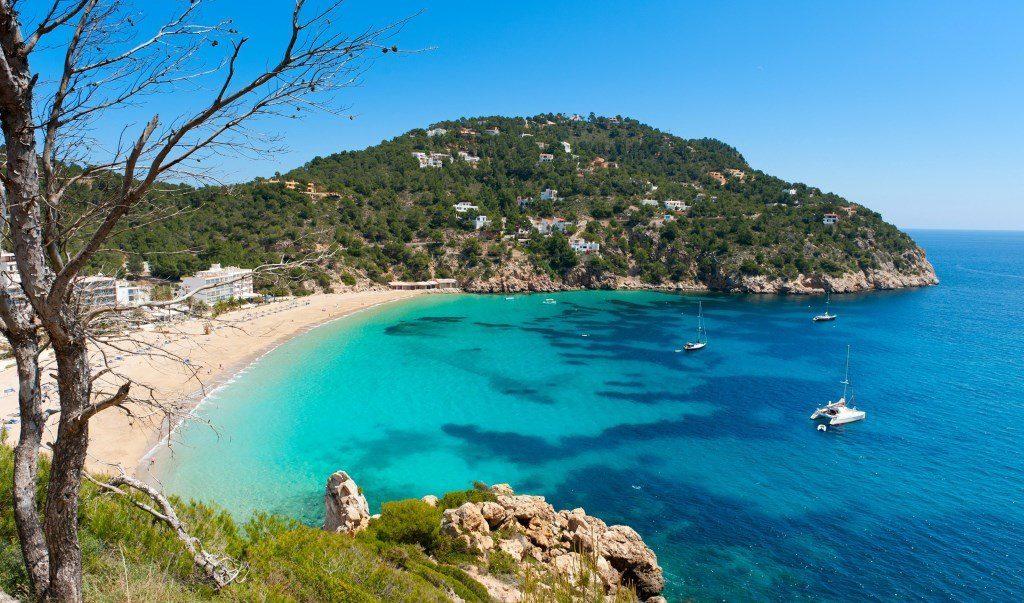 plage à Ibiza, Espagne