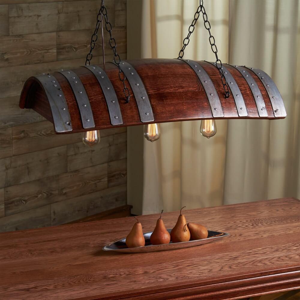 tonneau Version lustre de table
