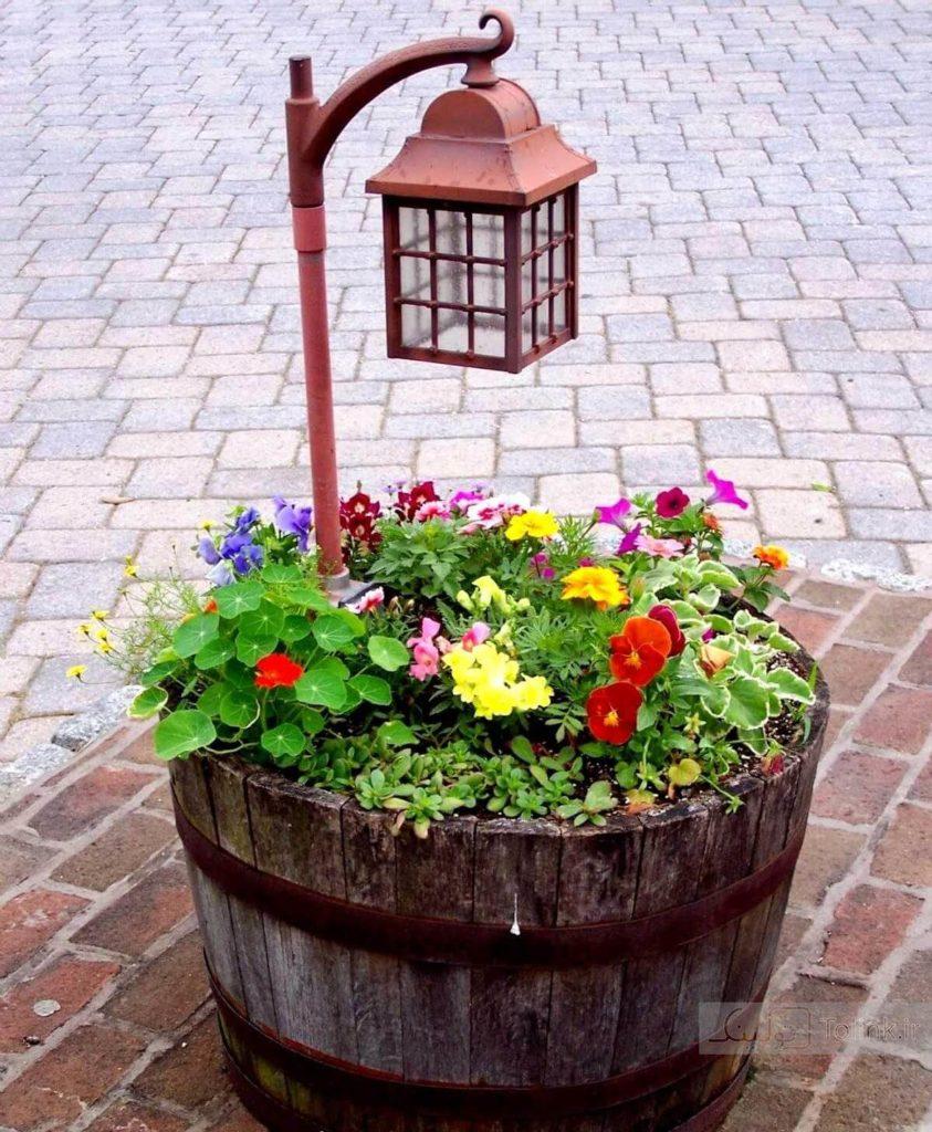tonneau Version pot de fleurs