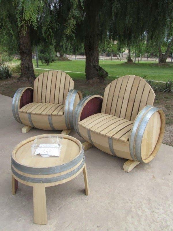 tonneau Version fauteuils d'extérieur, classe