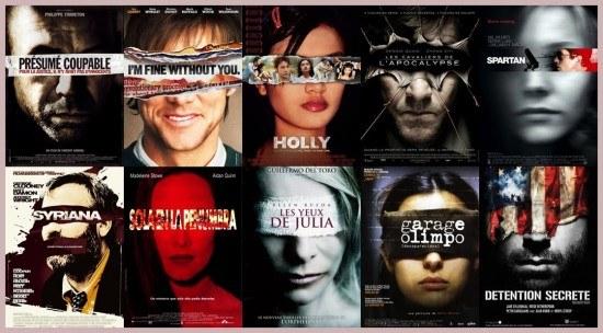 Similitudes reconnaissables les yeux bandés - plagiat affiches cinéma