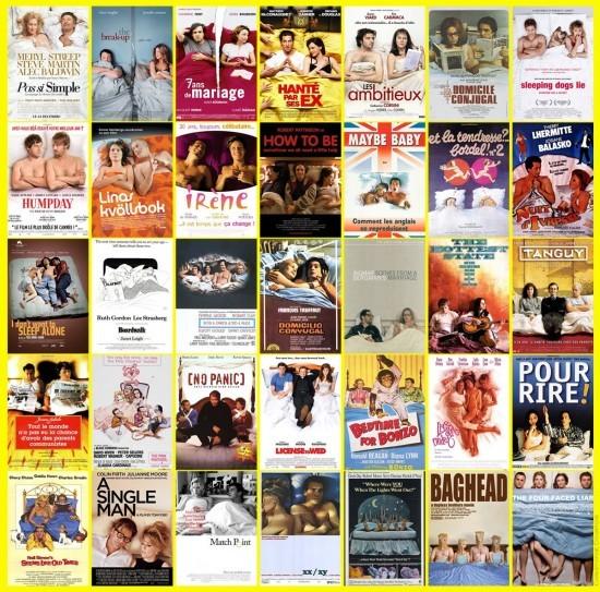 Au lit, à 2 ou plus - plagiat affiches cinéma