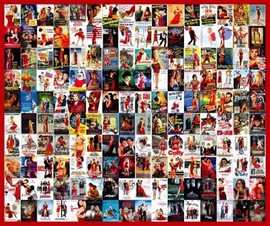 La robe rouge, un grand classique - plagiat affiches cinéma