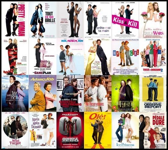 Les 2 personnages principaux dos à dos - plagiat affiches cinéma