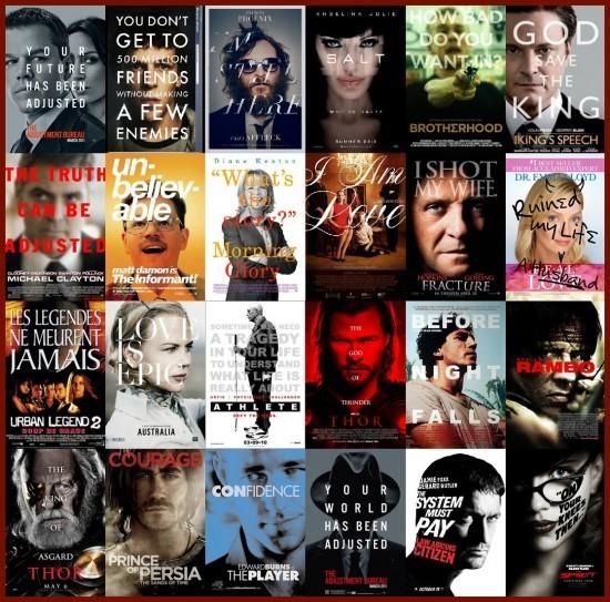 Typographie sur le visage - plagiat affiches cinéma