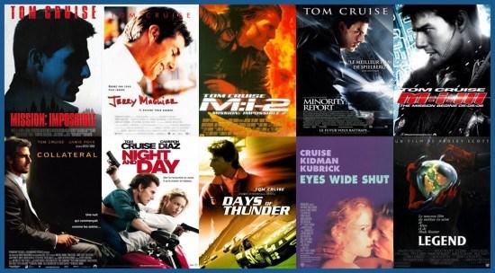 Le profil de Tom Cruise - plagiat affiches cinéma