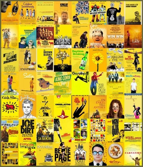 Le jaune et les films indépendants - plagiat affiches cinéma