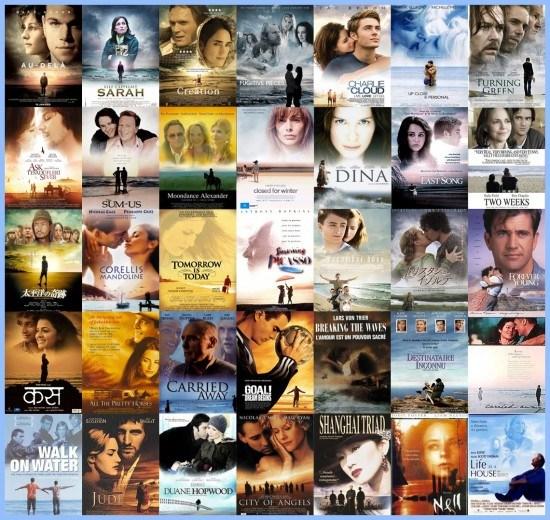 Silhouettes et océans - plagiat affiches cinéma