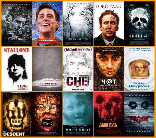 Visages composés - plagiat affiches cinéma