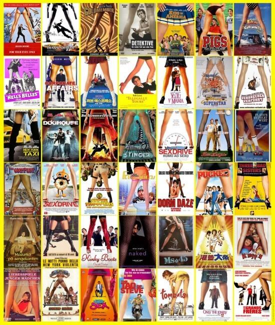 Sous la jupe des filles - plagiat affiches cinéma