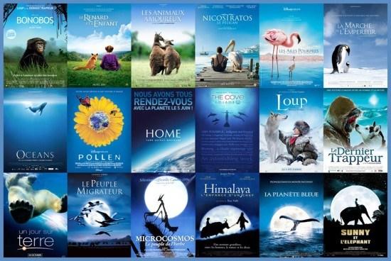 Le bleu, la nature et les animaux - 2 - plagiat affiches cinéma