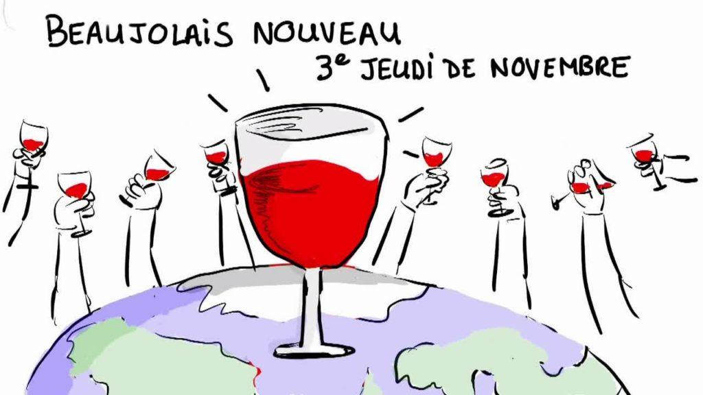 Le beaujolais nouveau arrive le 3e jeudi de novembre