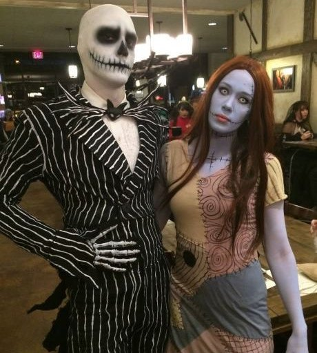 costumes couples halloween 2019 : Jack et Sally (L'étrange Noël de Mr Jack)
