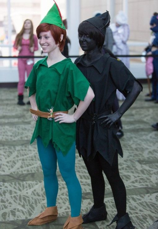 costumes couples halloween : Peter pan et son ombre