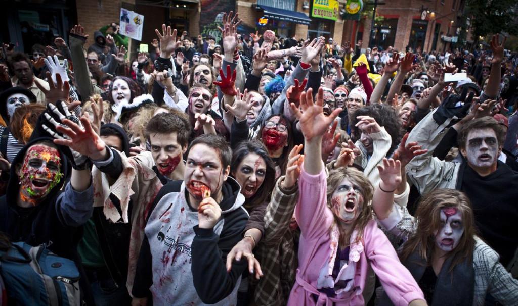 La zombie walk d'Halloween est très reconnue à Montréal