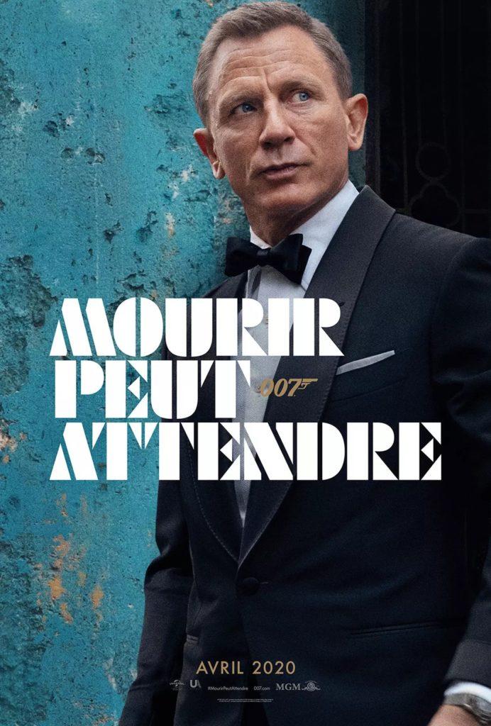 """Affiche française du film James Bond 2020 """"Mourir peut attendre"""""""
