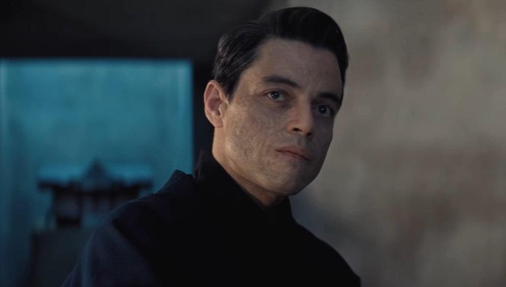 Rami Malek : méchant de James Bond avec le visage brûlé