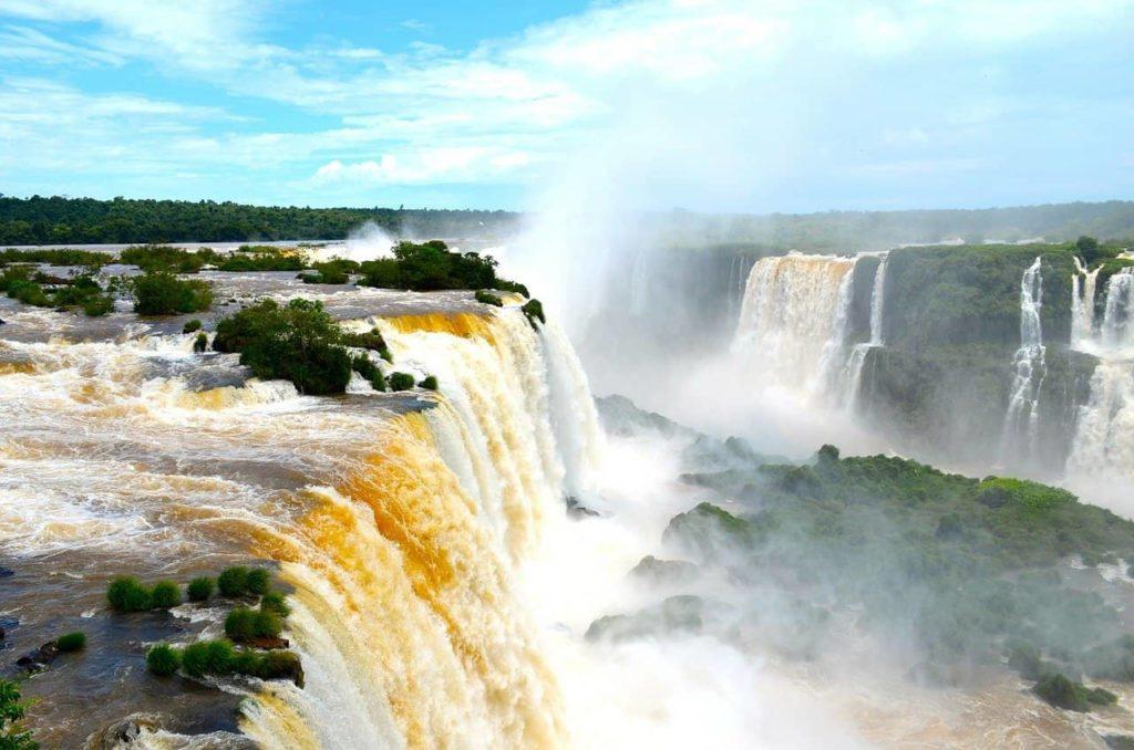 Les vertigineuses chutes d'Iguazu